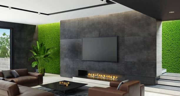 fireplace and television placement