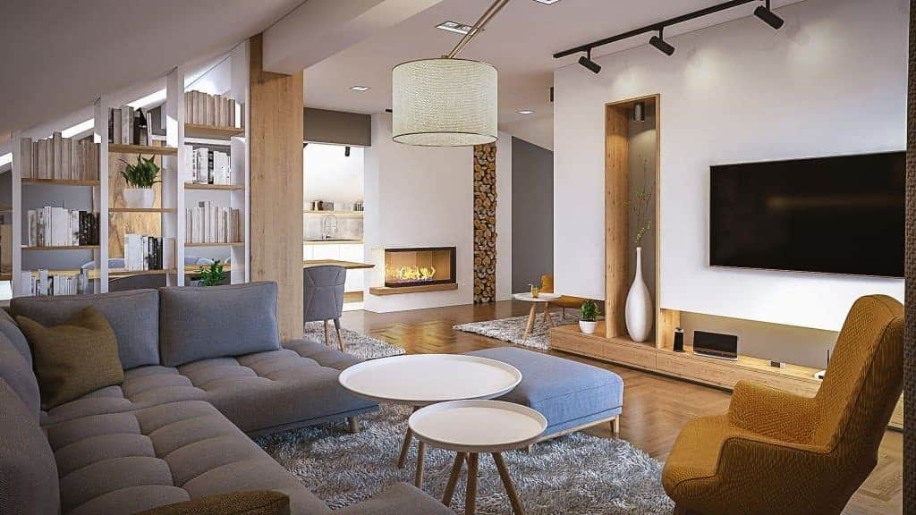 Can you place a tv and fireplace on the same wall?