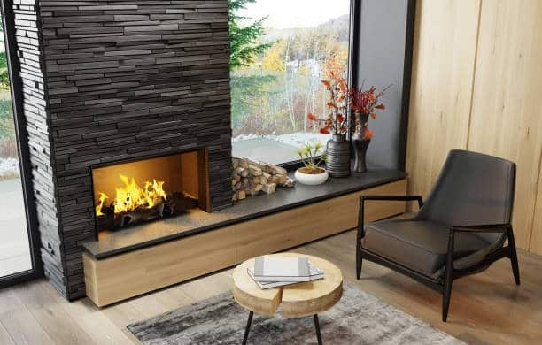 tv placement with fireplace