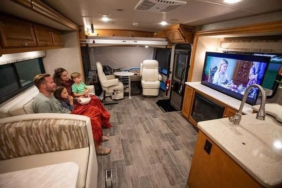 remove TV from wall mount in RV