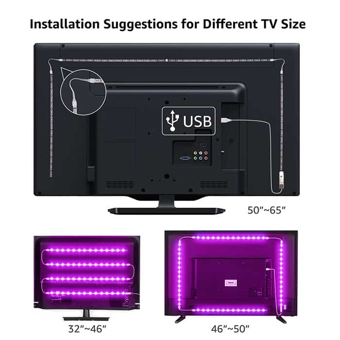 How to put led lights on TV using led strips